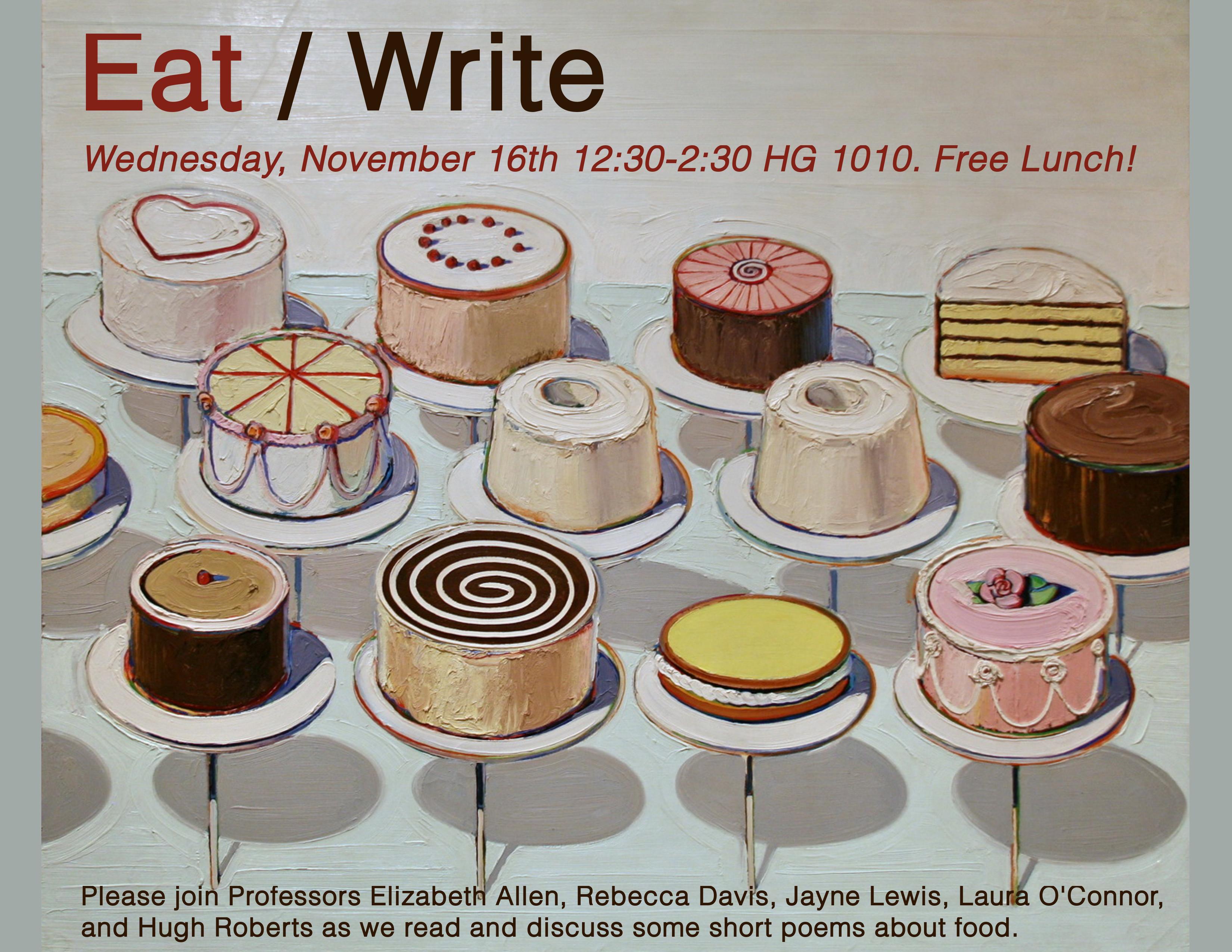 Eat/Write poster