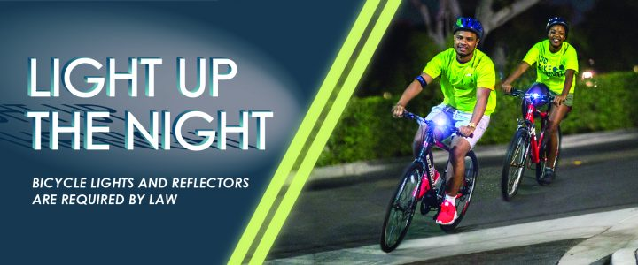 Be visible with free bike lights