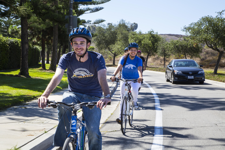 Biking on E. Peltason