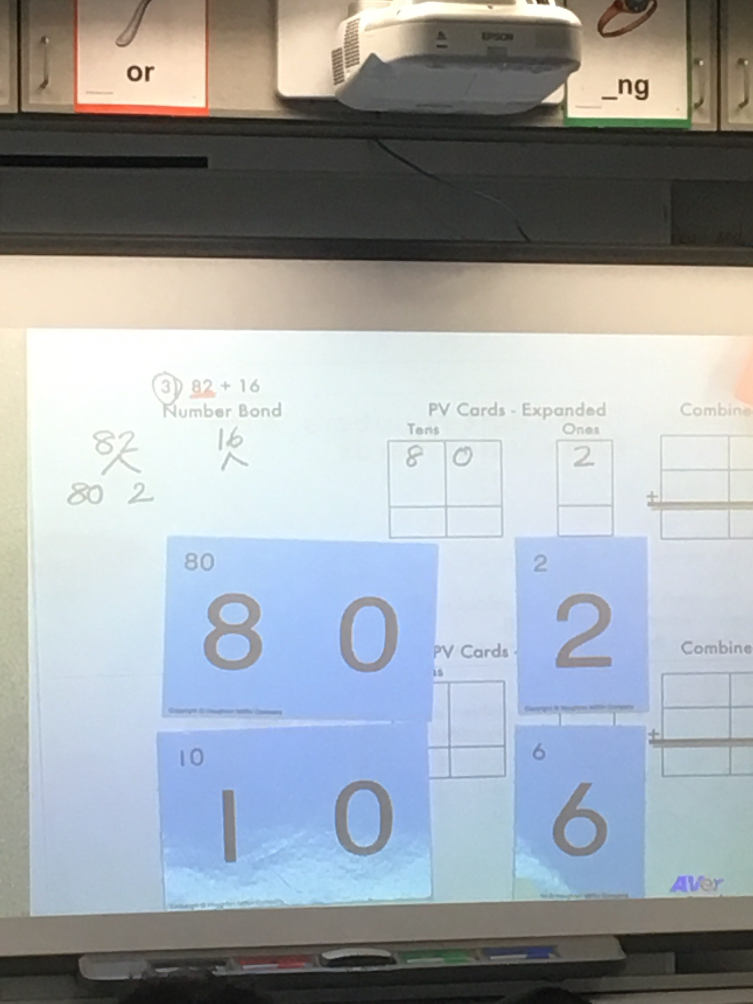 1st Grade - Place Value Cards for Addition
