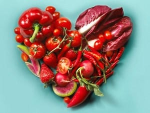 heart image with food