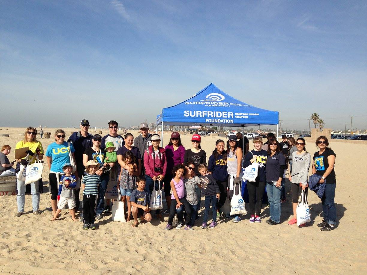 Surfrider Beach Clean Up Group Photo