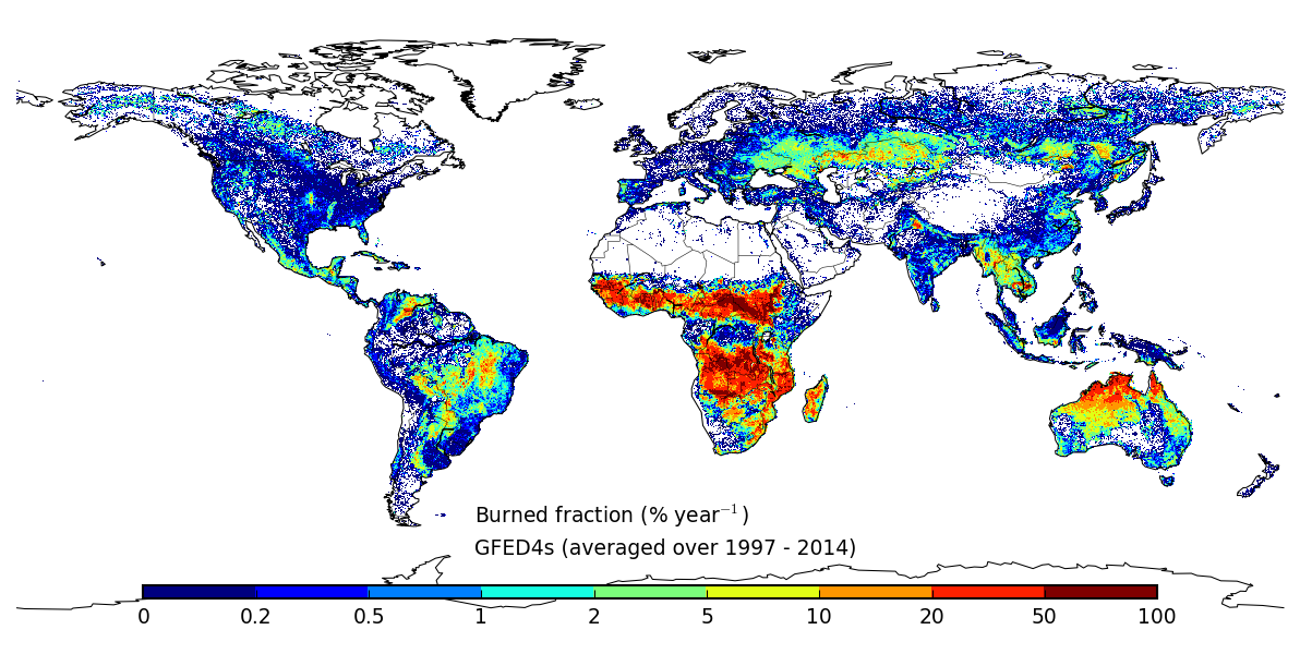 Global Fire Emissions Database version 4 global burned area