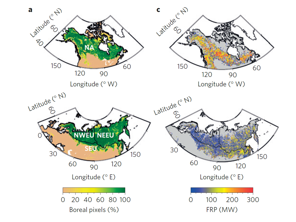 Eurasia and North America boreal fire feedbacks (Rogers et al. 2015)