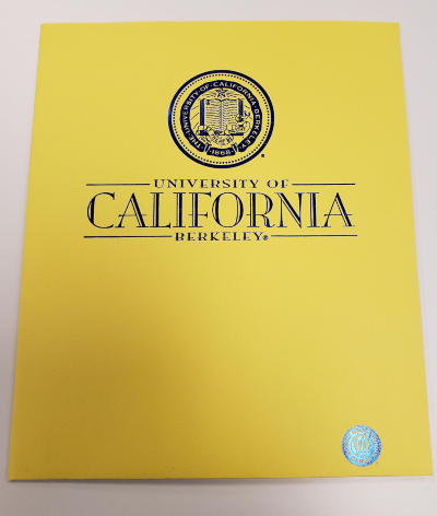 UCB Yellow folder