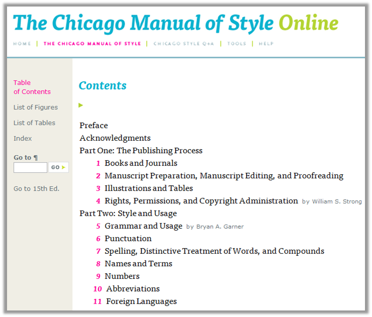 chicago manual of style online sage
