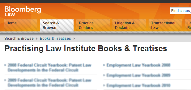 Screenshot from bloomberglaw.com