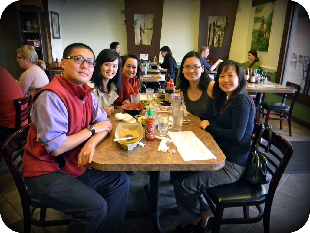 From left: Jim Lee, Thuy Vo Dang, Erin O'Brien, Nhi Lieu, and Linda Vo at lunch post-book signing event.