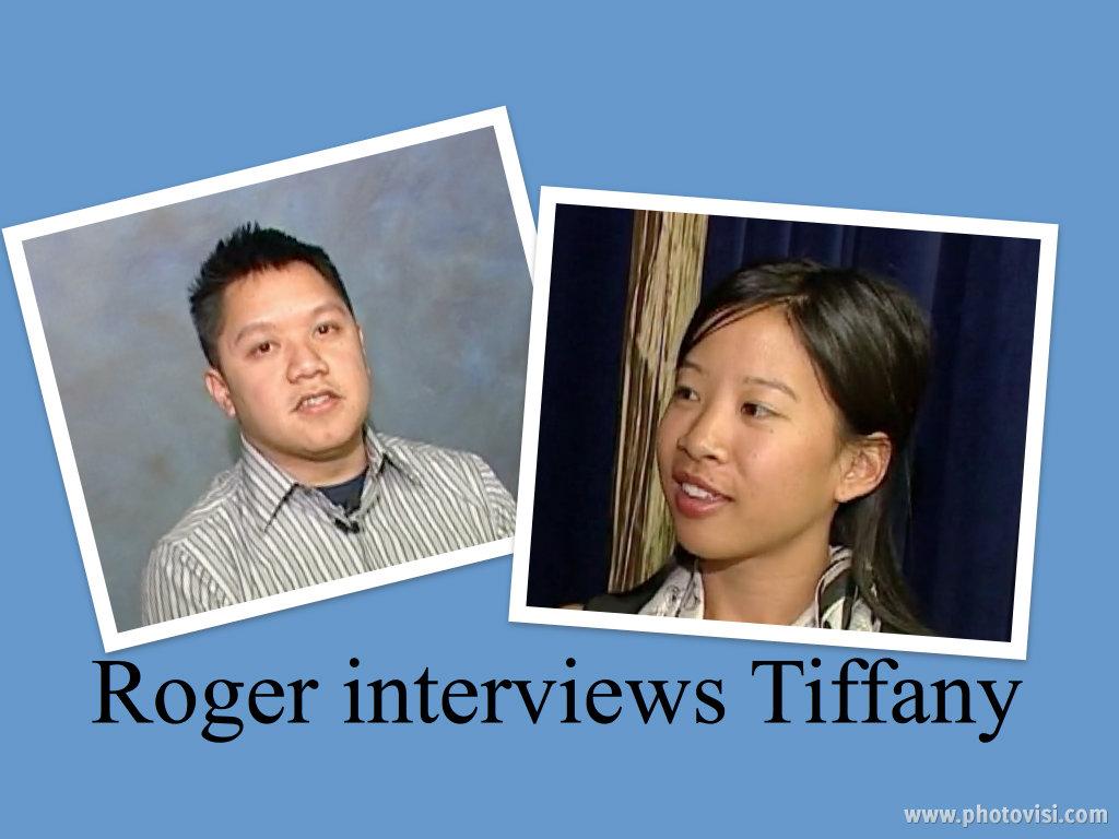 Roger Le interviews narrator, Tiffany Le