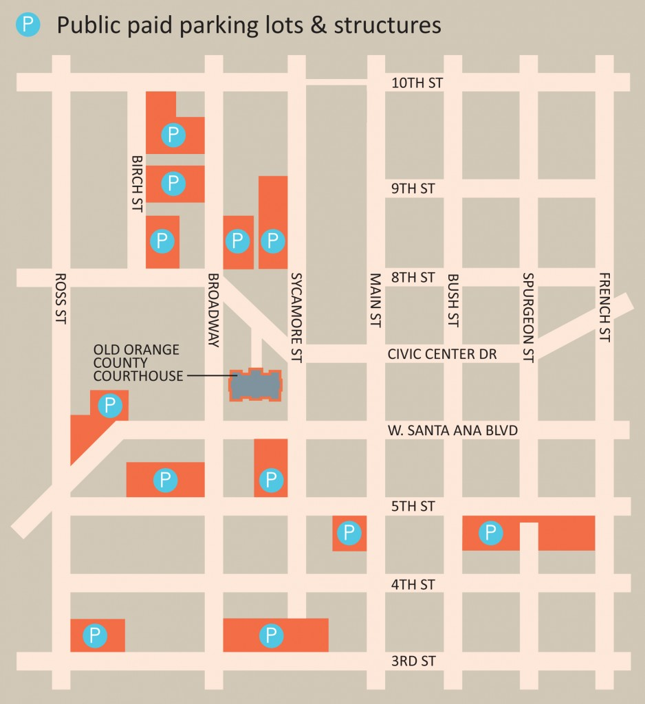 Courthouse expanded parking map