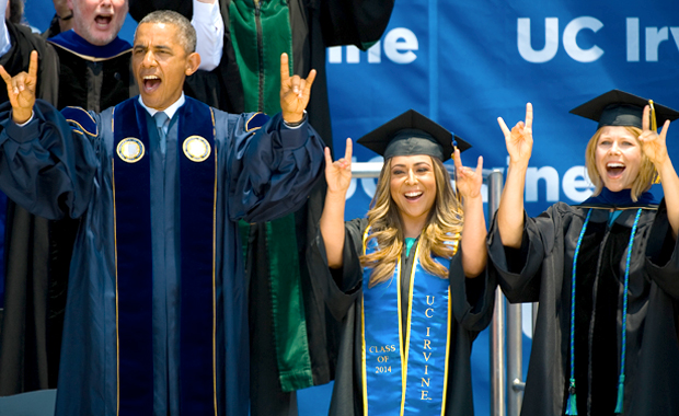 President Obama at Commencement 2014