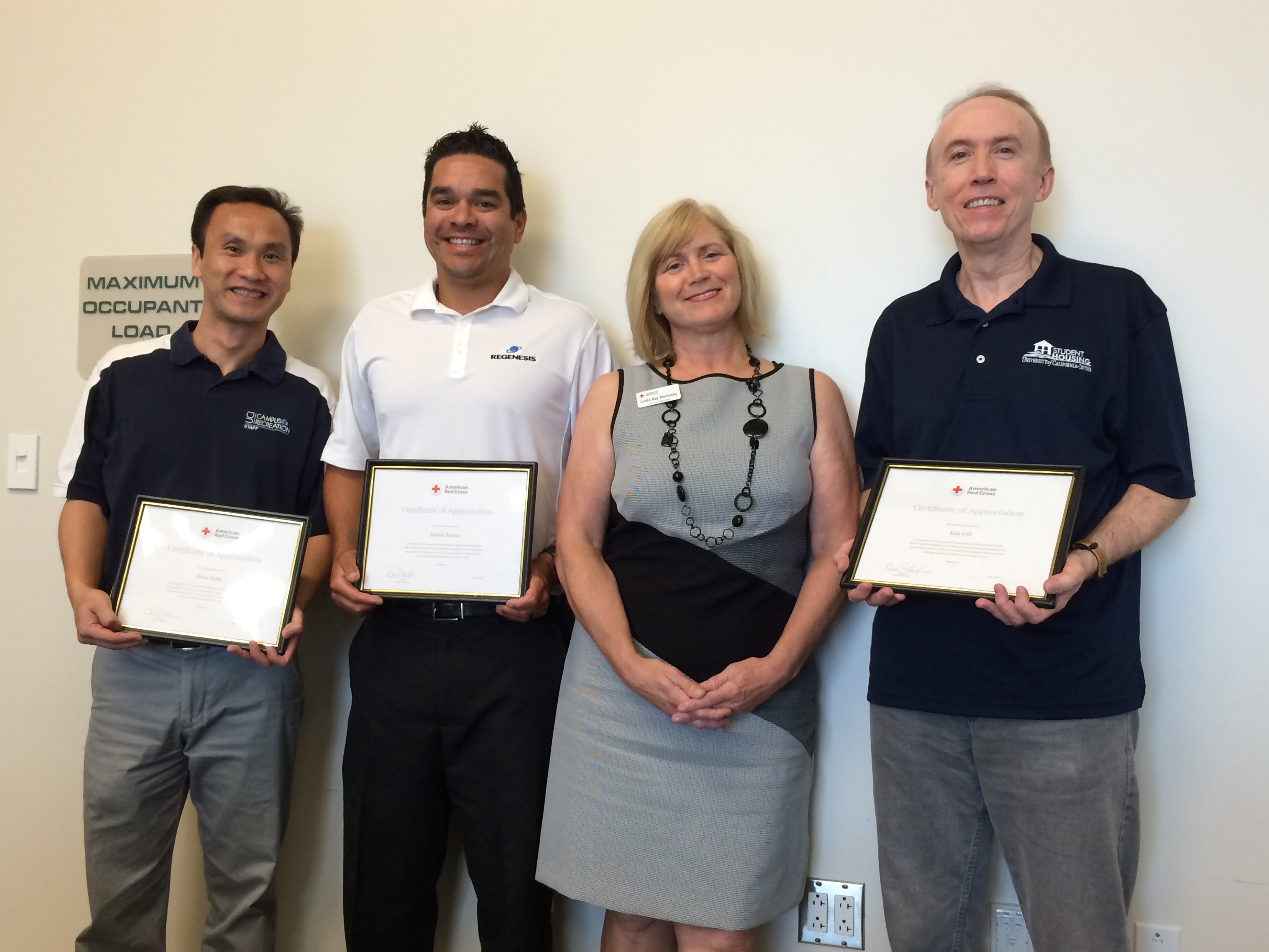 UCI Campus Recreation Receives American Red Cross Award