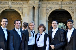 Megan and other Rhodes Scholars matriculating at Oxford