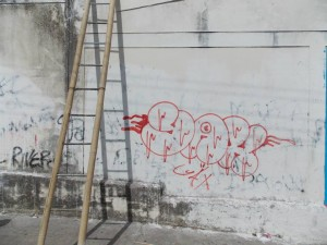 Homer Simpson Mural to remove graffiti and promote clean streets