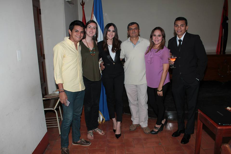 Posing with friends after my Nicaraguan friend's thesis defense.