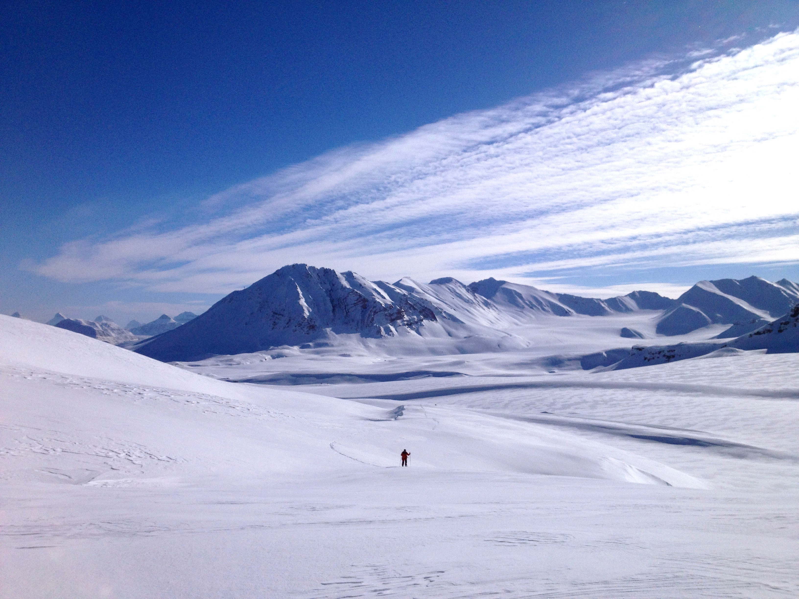I went back to Ny-Ålesund later in the year and this time needed to cross-country ski around to collect water samples. The scenery was gorgeous!