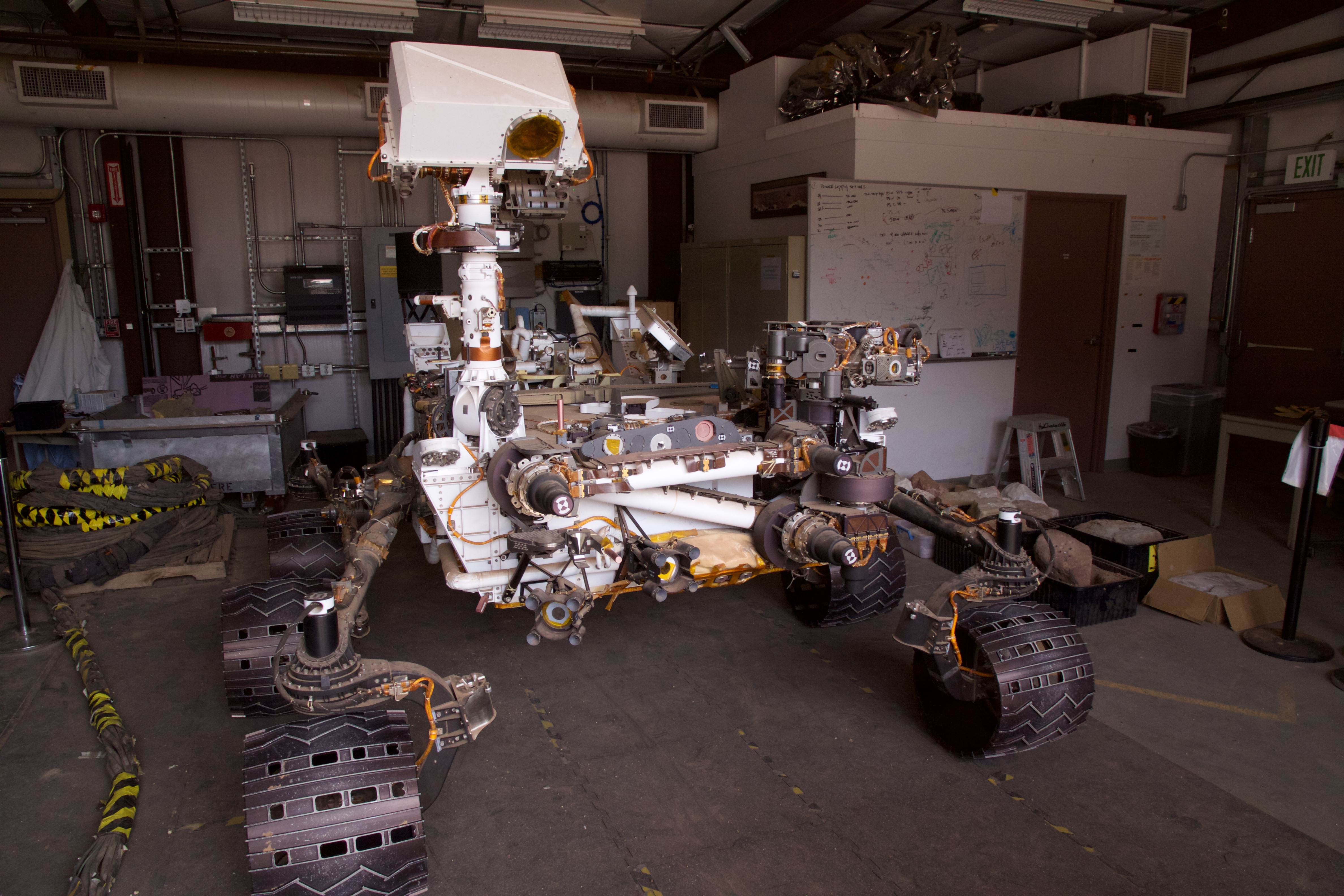 An exact copy of the rover currently on Mars is housed at the Jet Propulsion Laboratory (JPL, associated with Caltech). We got a tour of the facilities and saw the rover as part of our program at Caltech.