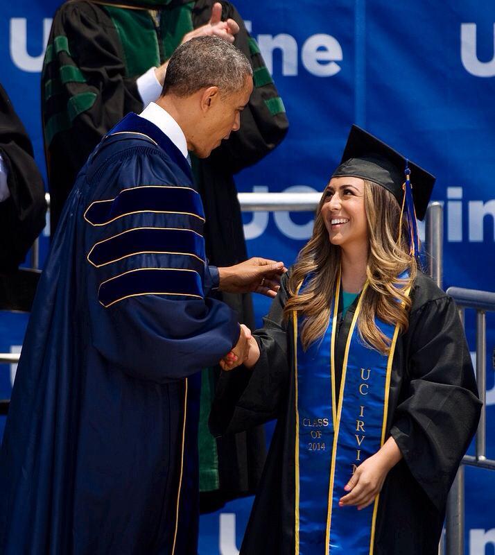 Jacqueline and President Barack Obama