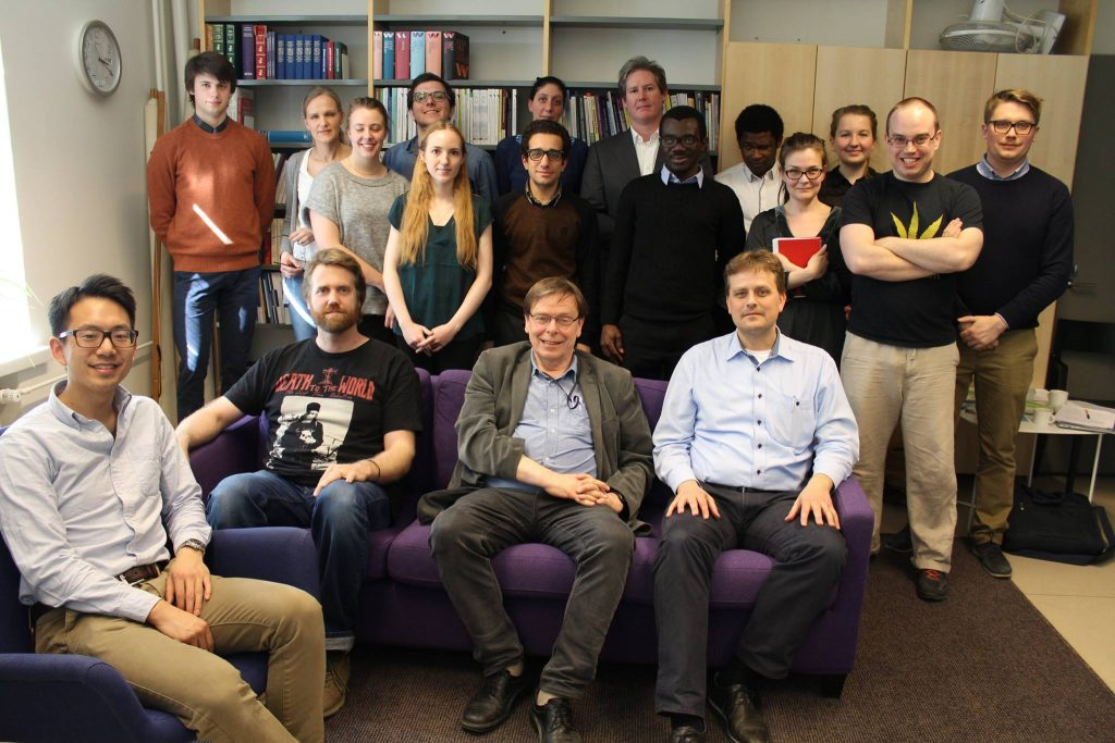 Master's program after thesis symposium (advisor sitting in middle of couch)