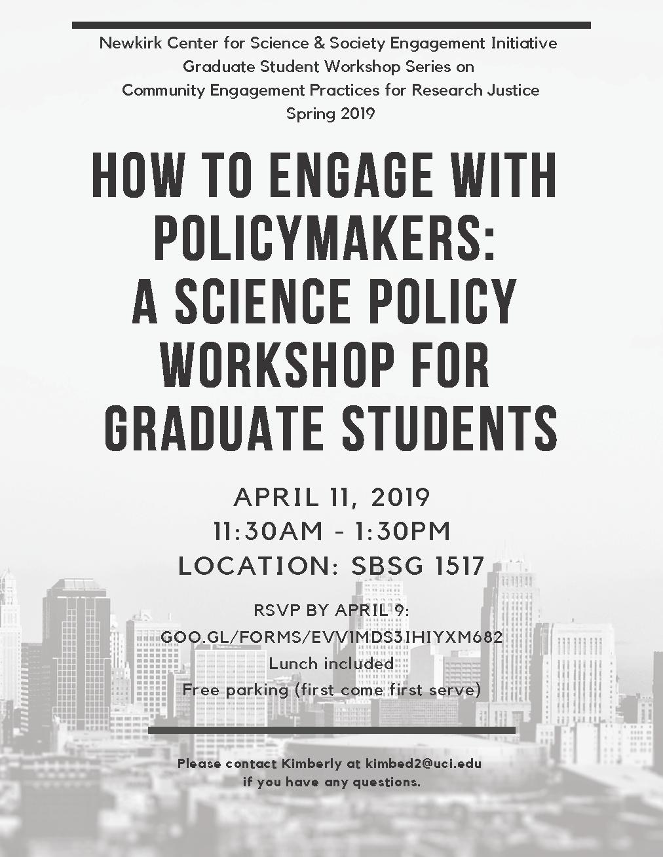 2019.04.11-Science-Policy-Workshop