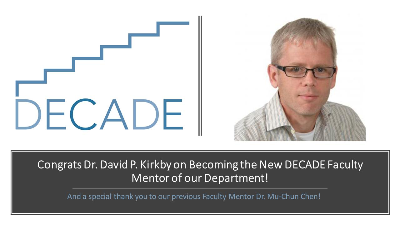 New DECADE Faculty Mentor
