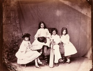 Alice, Ina, Harry and Edith Liddell, probably May or June 1860.