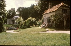Stourhead--gothic cottage & Pantheon
