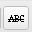 Strike-through text icon