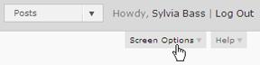 Screenshot: Screen Options