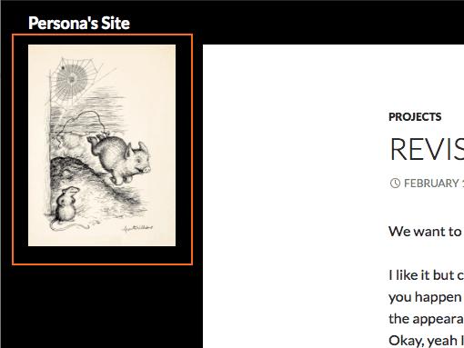 Site with image widget