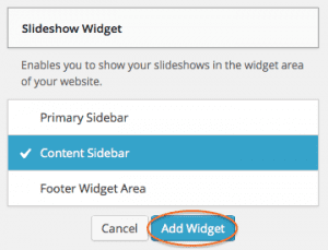 Slideshow Widget