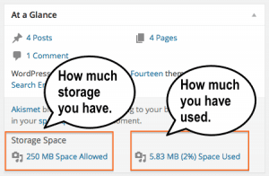 At a Glance - Storage Use