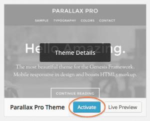Activate Parallax Pro