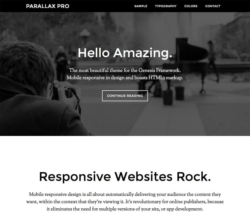 new parallax theme
