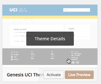 Preview of Genesis UCI theme