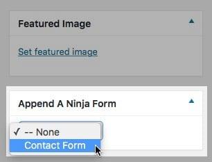 Append a form