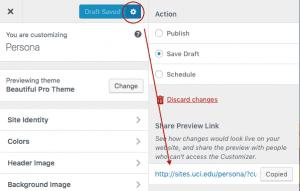 Customizer Draft Features