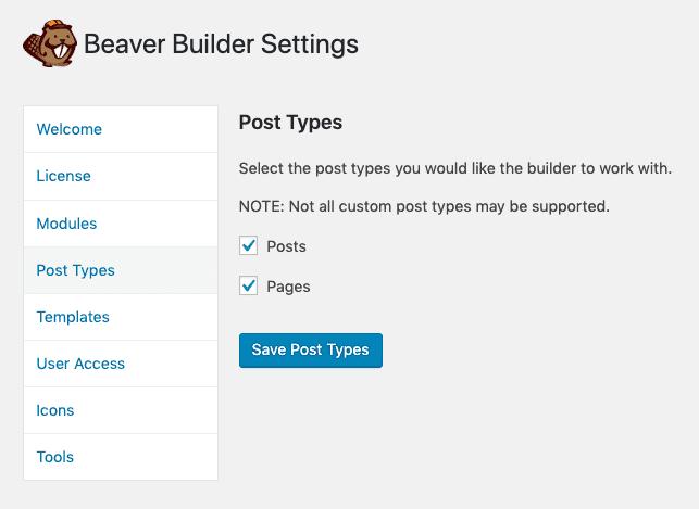Beaver Builder Post Types