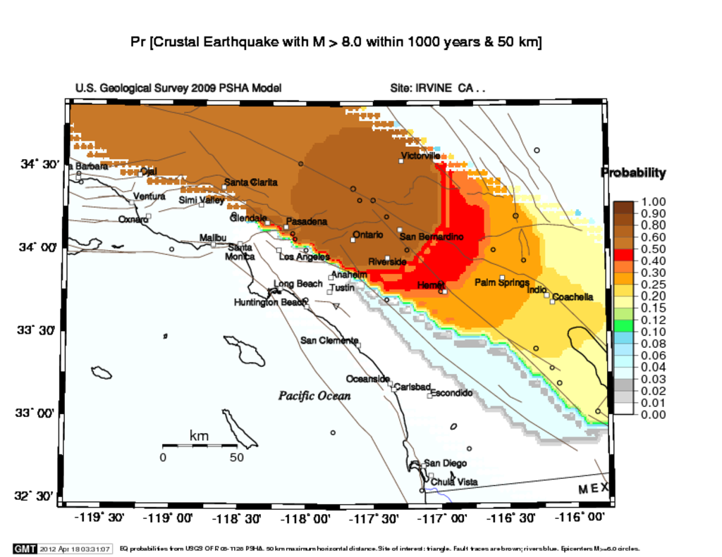 Newport Inglewood Magnitude Probability Maps Energy Blog - Inglewood map