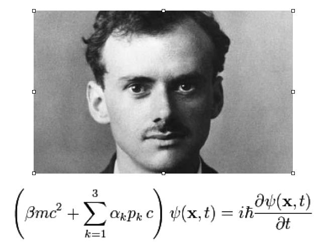 PaulDirac with equation