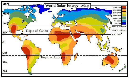 US And World Solar Power For Energy Blog - Solar power map us