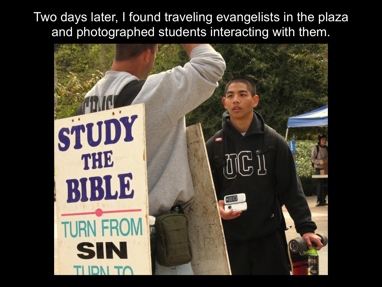 Traveling evangelists