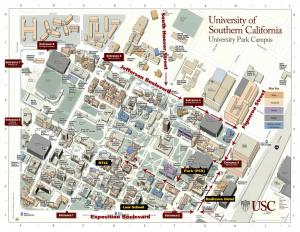 USC campus-map-PSX lot-RTCC