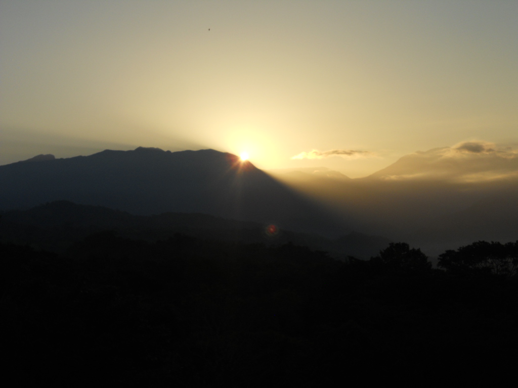 Taken on day 7. The sunset seen at La Finca Simpre Verde in Mastatal.
