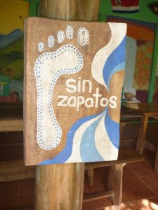 Sin Zapatos: Taken outside the kitchen area at Rancho Mastatal