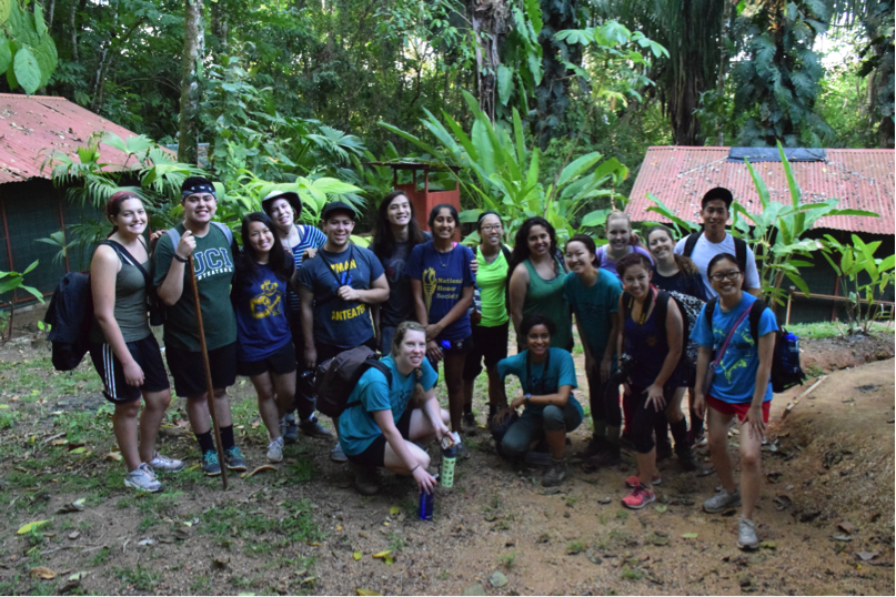 The group at our campsite on the mountains by Hacienda Baru.