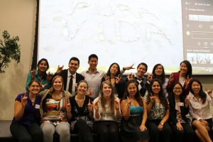 Some of the participants throwing up a Zot at the end of the symposium!