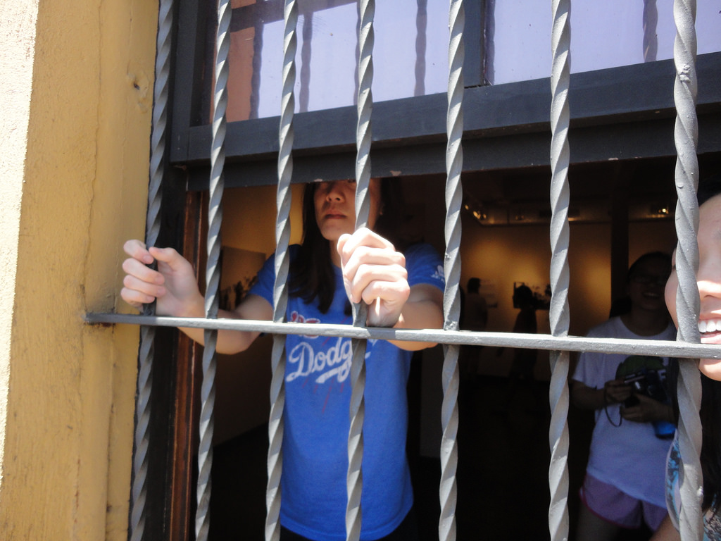 Jeff's first time behind bars!