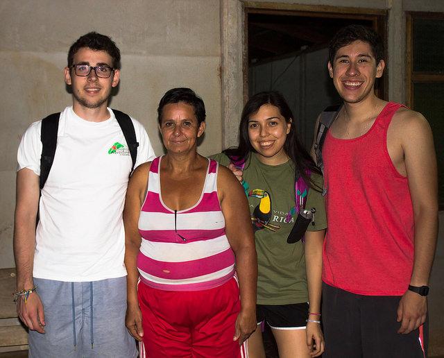 Photo depicting the author, Lus Milda, Ceci & Juan.