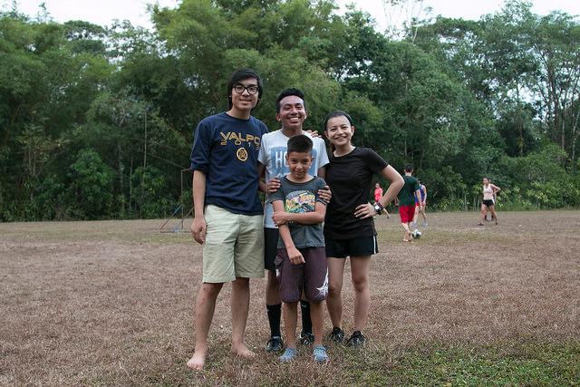 Guia, Erick, Danny & Alex at the soccer field.